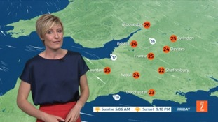Long sunny spells and warm temperatures