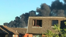 Large fire at rubbish site near Lewes