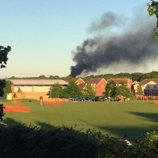 The fire started around 8pm at solent nurseries