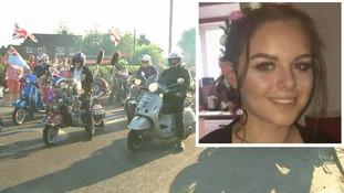 Olivia Campbell: Scooter procession honours teenage Manchester attack victim