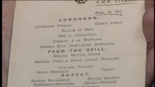Menu from Titanic