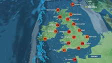 Weather: Another hot day of sunshine across the country
