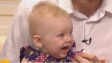 World's 'oldest' frozen egg baby born