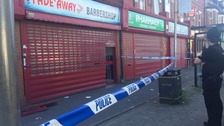 Armed police carried out a raid early this morning