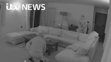 Astonishing footage as burglars ransack family home