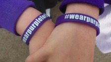 A Juvenile Idiopathic Arthritis 'Wear Purple' wristband