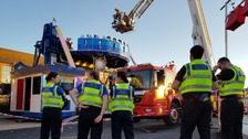 25 people stuck after Barry Island fairground ride breaks