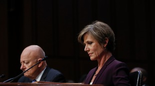 Former acting Attorney-General Sally Yates testifies.