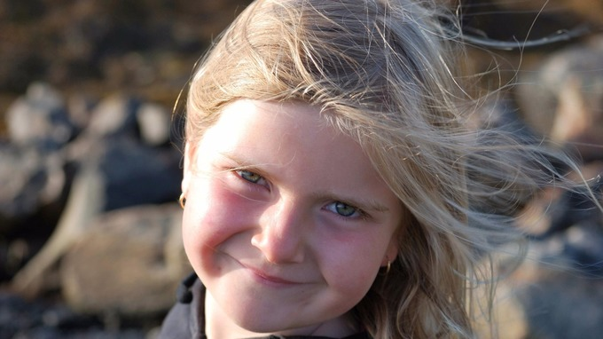 Eilidh MacLeod as a much younger child