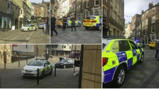 Police reassure the public after Durham City centre is evacuated.