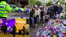 UK terror threat lowered to severe but security for bank holiday remains high