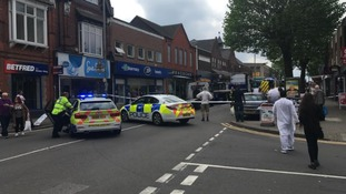Photo from the scene at Kings Heath High Street