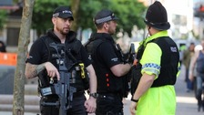 Armed police protect Bank Holiday events