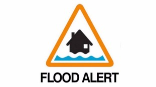 A flood alert is in place.