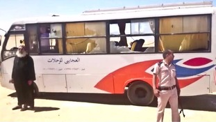 The bus was attacked just outside Cairo.