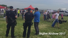 Armed police at the airshow