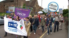 Hundreds march through Bristol in support of NHS