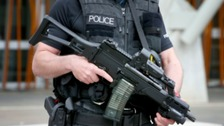 Armed police patrol music festivals in Southampton and Oxford