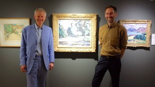 James Knox Director of the Fleming-Wyfold Art Foundation with James Lowther Head of Berwick Visual Arts