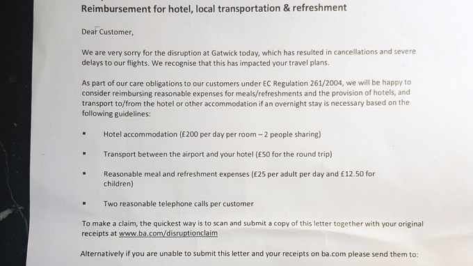 Ba happy to consider reimbursing reasonable expenses itv news the letter handed to passengers thecheapjerseys Choice Image