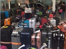The baggage chaos at Heathrow Airport