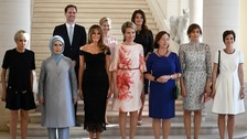 Anger as White House leaves 'first husband' out photo caption