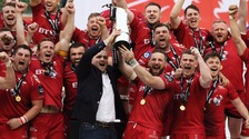 Six-try Scarlets secure PRO12 title