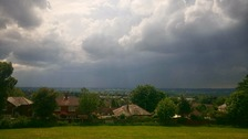 Stormy weather closing in.. Taken from Breightmet,  Bolton by Andy Entwistle