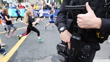 Manchester defiant as runners take to the streets