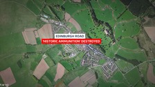 Bomb disposal team destroy 'historic ammunition' in Lauder