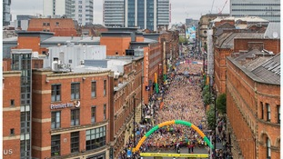 Thousands turn up to support Great Manchester Run
