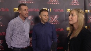 Chris Maloney and mentor Gary Barlow talk ahead of the X Factor final in Manchester