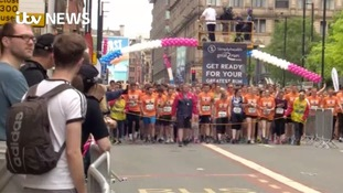 Runners and spectators fill the streets for Great Manchester Run