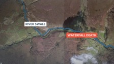 A 19-year-old man has died after getting into difficulty at a waterfall in North Yorkshire.