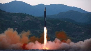 A missile fired by North Korea earlier in May.