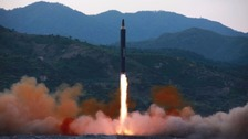 North Korean missile lands in Japanese waters