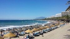The beach in Marbella.
