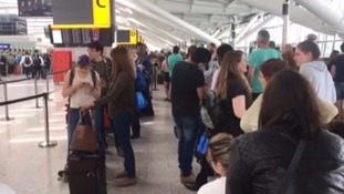 Delays and disruption at Heathrow on Sunday.