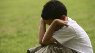 A sad child.