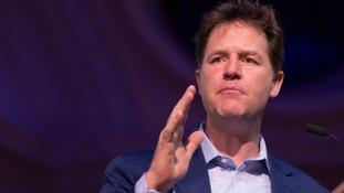 Former deputy prime minister Nick Clegg.