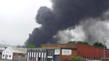 Crews tackle fire at Swansea's Fforestfach industrial estate
