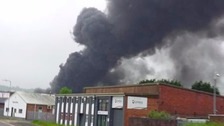 Crews tackle large fire at Swansea industrial estate