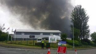 """Residents urged to """"keep away"""" after Swansea scrap yard fire"""