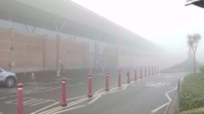 Jersey Airport in fog