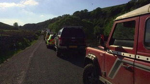 Emergency services were called to Wain Wath waterfall on the River Swale