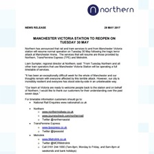 Statement from Northern Rail