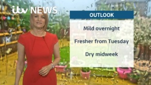 Monday's weather update with Kerrie