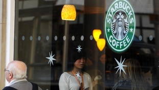 The view of a Starbucks store in Nottingham