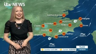 Tuesday's weather for the east of the region