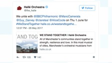 Manchester's orchestras unite to support victims of the Manchester Arena bomb attack